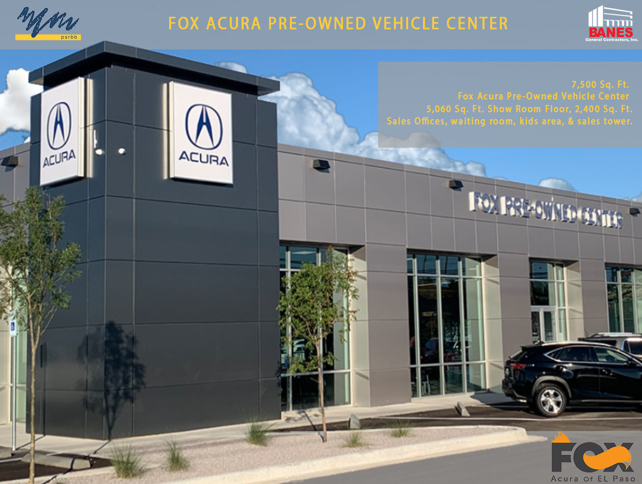 NEW FOX ACURA PRE-OWNED VEHICLE CENTER